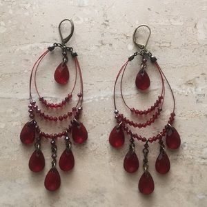 Jewelry - Maroon Red Earrings